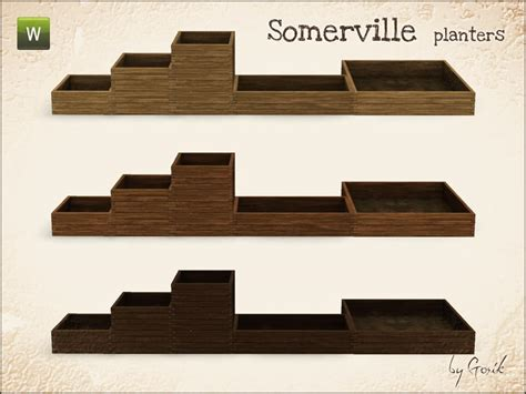 Sims 3 Planter Box by Gosik S Somerville Planters