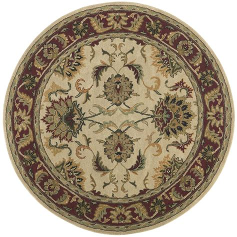 6x6 rug st croix trading made wool traditional beige agra 6x6 rug 169210 rugs at