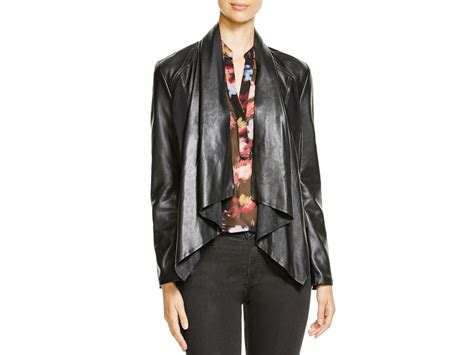 draped faux leather jacket kut from the kloth levi draped faux leather jacket in