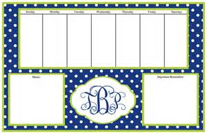personalized desk planner calendar the shopping