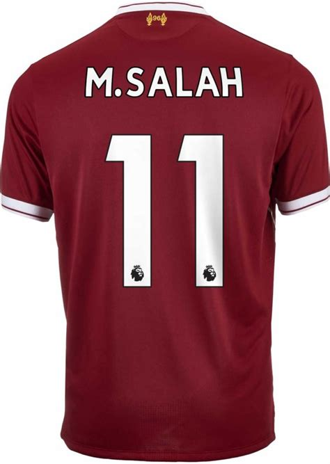 M Salah Liverpool 2017 2018 Home Away Third Style Nameset liverpool jersey and apparel free shipping soccerpro