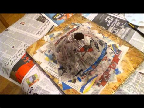 How To Make A Volcano Paper Mache - how to make a paper mache volcano