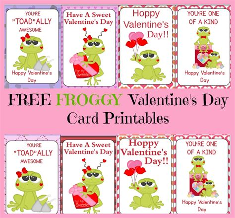 Frog Valentines Card Free Template by Free Frog S Day Card Printable As They Grow Up