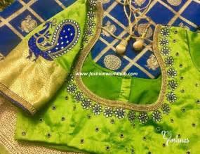 2017 latest maggam work blouse designs fashionworldhub