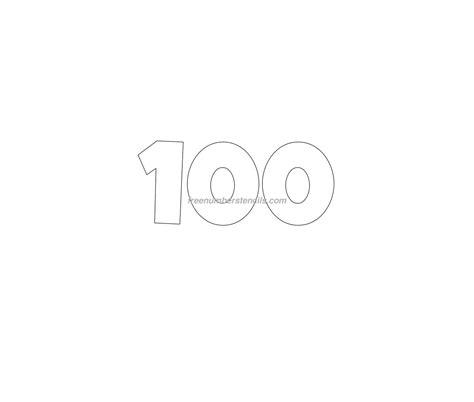 number 100 template free 100 number stencil freenumberstencils