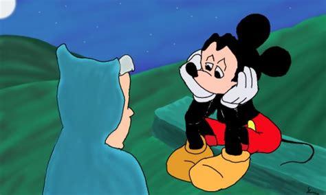 mickey mouse looking sad sad mickey mouse