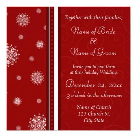 christmas wedding invitation cards 5 25 quot square invitation