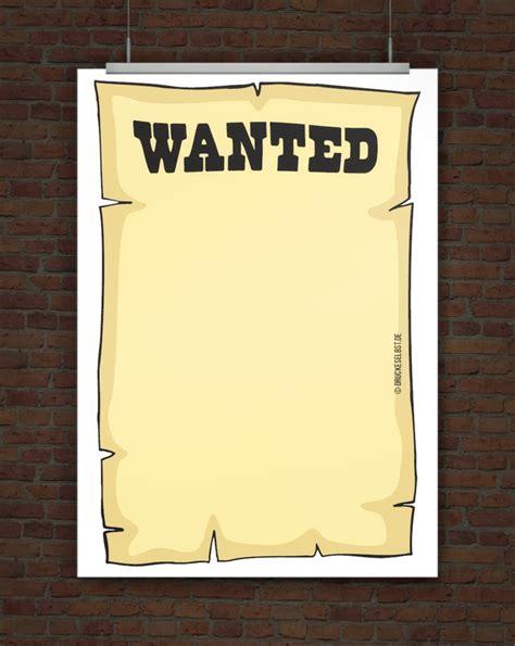 Vorlage Word Plakat Drucke Selbst Kostenlose Vorlage Wanted Plakat