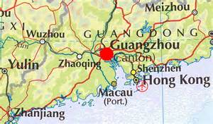 Canton China Map by Maurice S Photos Travel Round The World Canton Map1