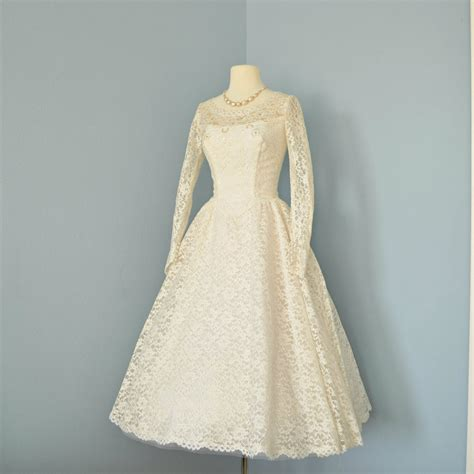 Brautkleider Creme Spitze by Vintage Wedding Dress Beautiful 1950s Lace Tea Length