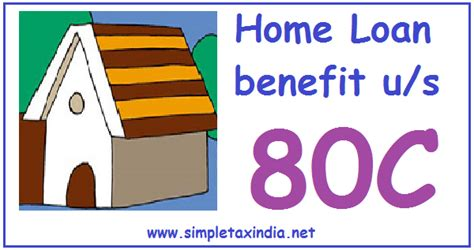 Deduction On Repayment Of House Loan Under Section 80c