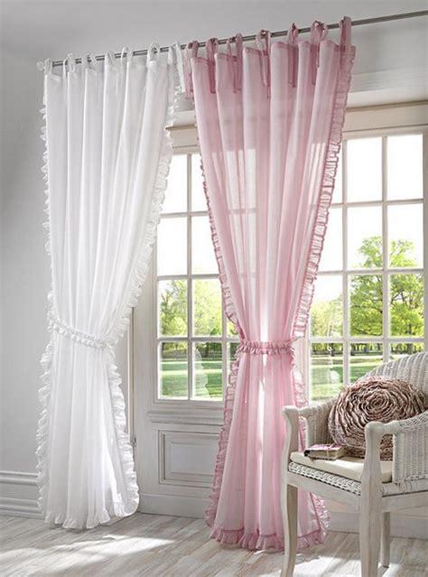gardine landhaus 1 st gardine 140 x 245 rosa kr 196 uselband schal vorhang