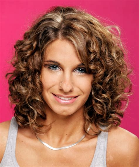Curly Hairstyles For Medium Hair by Medium Curly Formal Hairstyle Medium Chestnut