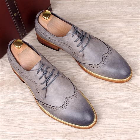 Genuine Leather Brogue Oxfords buy fashion s carved genuine leather brogue shoes