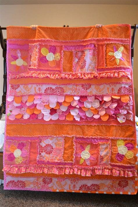 pattern rag quilt ruffle applique flower and scallops