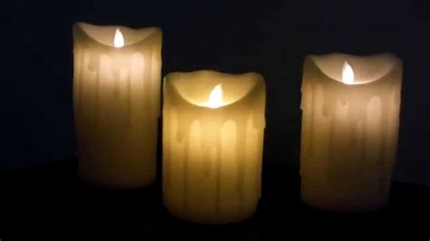 cera candela candele led con cera vera effetto fiamma tremolante
