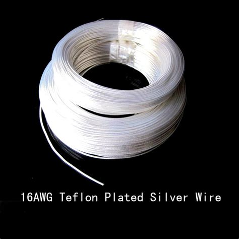 Promo Tokped Cable Teflon New high quality 10m16awg teflon wire silver plated wire 1 5mm2 section in electrical wires from