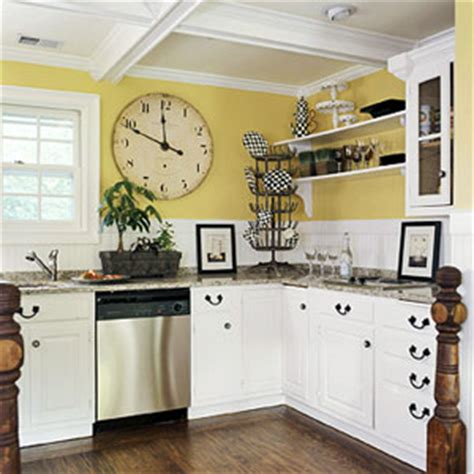 kitchen yellow walls white cabinets yellow kitchens thenest