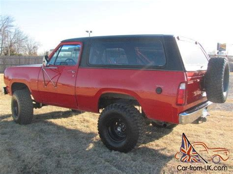 1979 plymouth trailduster convertible 4x4 dodge ram not