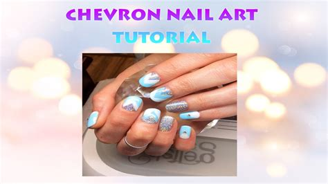easy nail art chevron simple gelish chevron nail art youtube