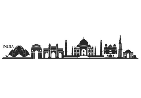 india skyline wall decal great vinyl design decor