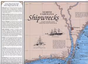 carolina shipwreck map nc cape fear shipwreck chart nautical print map ebay
