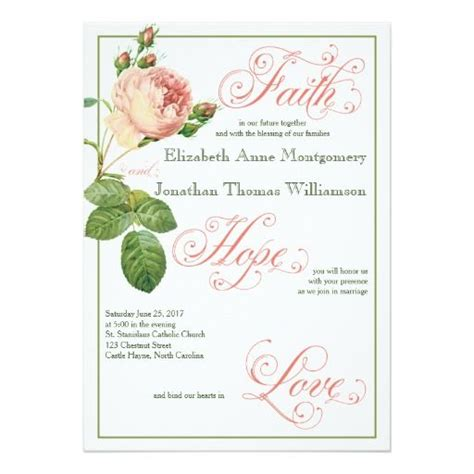 Best 25 Christian Wedding Invitation Wording Ideas On Pinterest Wedding Bible Wedding Religious Wedding Invitation Templates