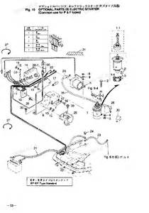 2002 and earlier m25c3 tohatsu outboard electric starter p f types diagram and parts
