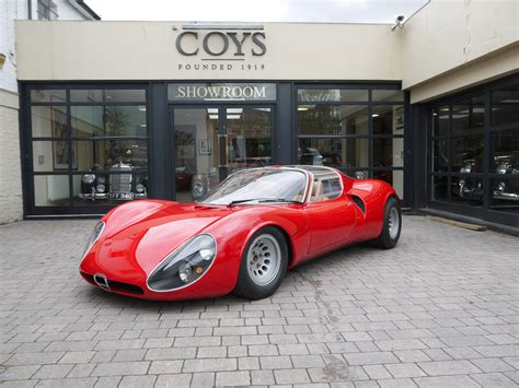 Alfa Romeo Tipo 33 by 1967 Alfa Tipo 33 Stradale Continuation Coys Of Kensington