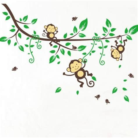 3 little monkeys swinging in a tree buy kids room nursery decals stickers for sale online
