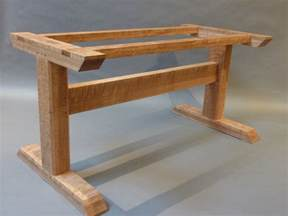 Custom Made Dining Tables by Curly Oak Trestle Table Hastening Design Studio