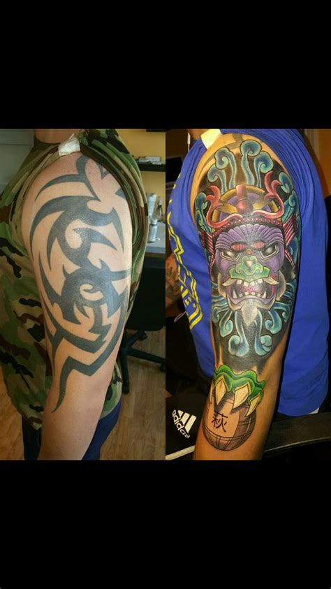 how to cover a tribal tattoo best 25 tribal cover up ideas on tribal