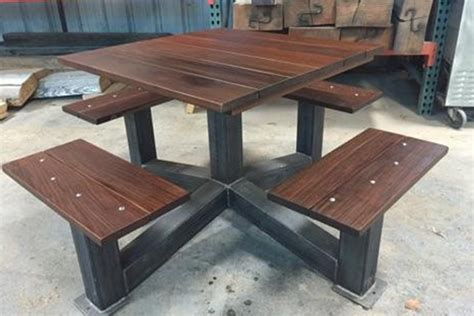 industrial style outdoor furniture outdoor modern industrial style picnic table the