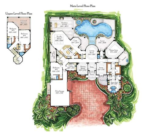 Villa Floor Plan 19 best images about hacienda house plans on pinterest