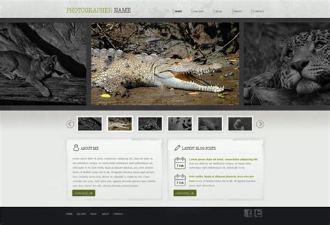free photography web template photography website template free photography web
