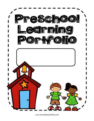 Progress Reports Learning Portfolios Free Printable Templates 2care2teach4kids Com Children S Portfolio Template Free