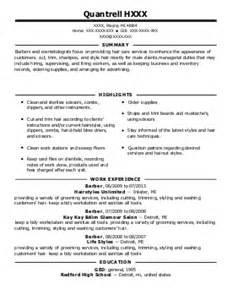 barbers resume exles beauty and spa resumes livecareer barbers resume exles beauty and spa resumes livecareer
