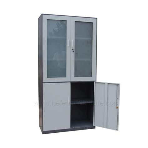Lemari Kaca Stainless lemari arsip besi pintu kaca hefeng furniture