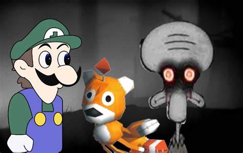 Tails Doll Meme - weegee tails doll and squidward suicide by darkradx on