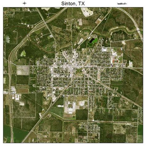 sinton texas map aerial photography map of sinton tx texas