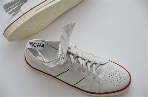 chanel sneakers chanel new white golf or tennis shoes new 39 5 at 1stdibs