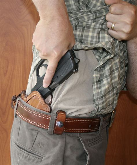 concealed in front line concealment tuckable holster