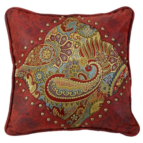 western decorative pillows hxws4287p1 san angelo western paisley faux leather