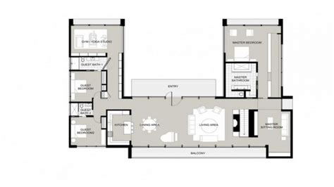 u shaped floor plans u shaped one story house u shaped house plans garden home