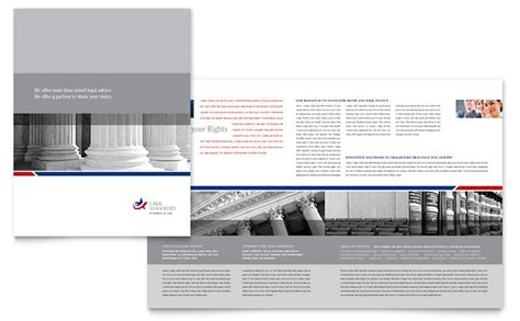 legal government services brochure template word