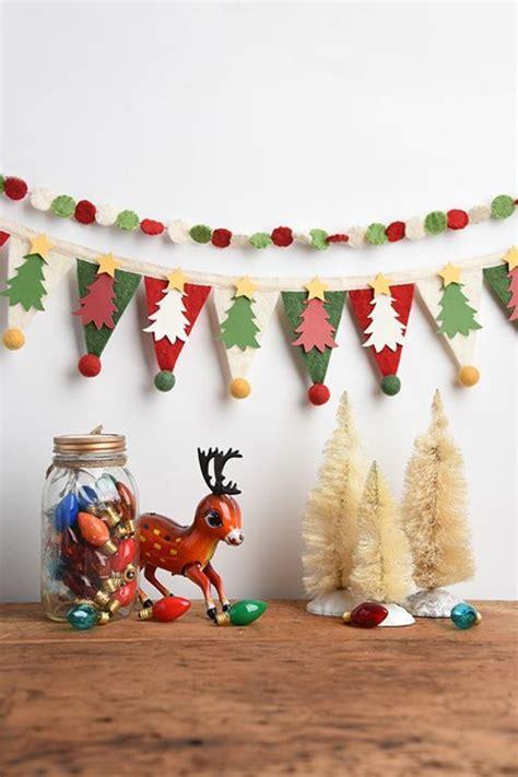 lustiges girlande basteln fuer weihnachtliche deko archzinenet