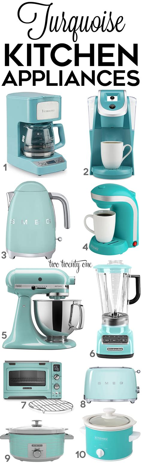 teal kitchen appliances turquoise small kitchen appliances quicua com