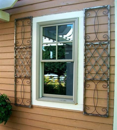 Exterior Door Shutters Wrought Iron Skyview Exterior Window Shutters