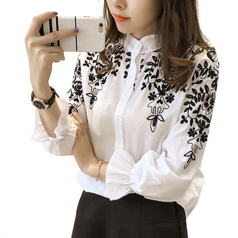 Aliexpress Tops | aliexpress com buy embroidery blouse shirt cotton linen