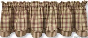 Curtains And Home Stanton Lined Layered Curtain Valance